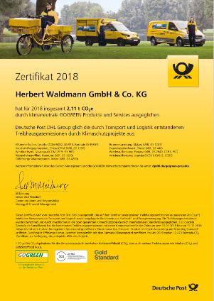 Certificate GO GREEN